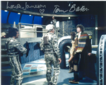Tom Baker, Louise Jameson  -  Multi signed original autograph not a copy 10265